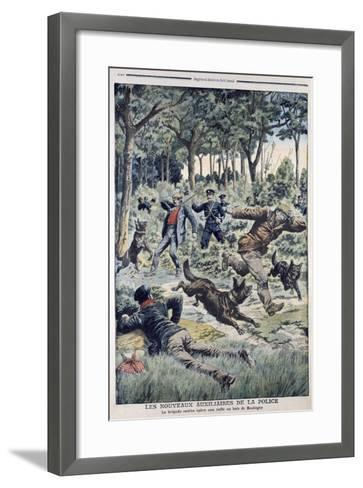 The New French Police Auxiliaries, 1907--Framed Art Print