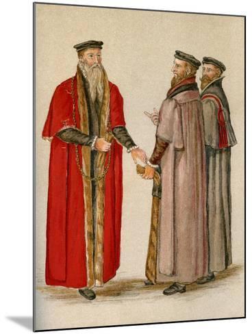 Lord Mayor and Aldermen--Mounted Giclee Print