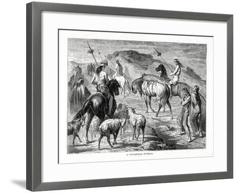 A Patagonian Funeral, 1877--Framed Art Print