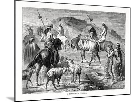 A Patagonian Funeral, 1877--Mounted Giclee Print