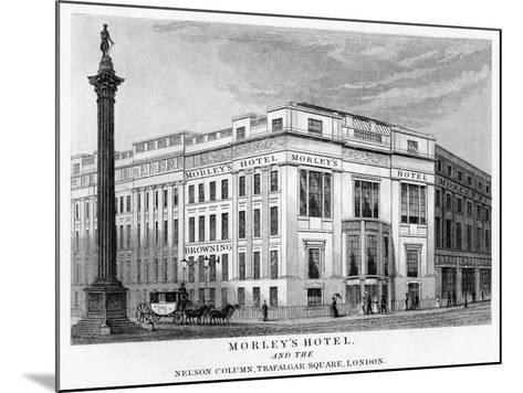 Morley's Hotel and Nelson's Column, Trafalgar Square, Westminster, London, 19th Century--Mounted Giclee Print