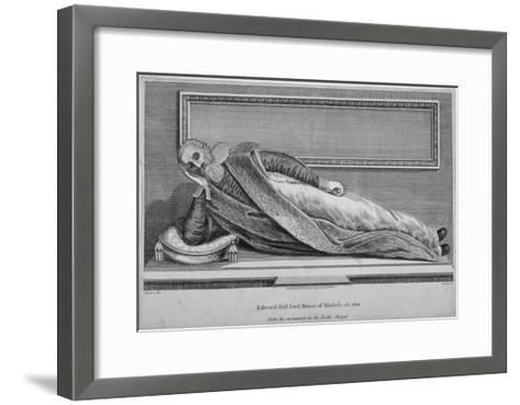 Monument to Sir Edward Bruce in Rolls Chapel, Chancery Lane, City of London, 1794--Framed Art Print