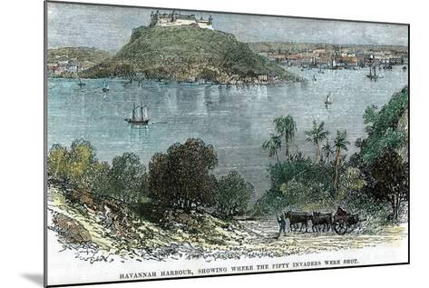 Havannah Harbour, Showing Where the Fifty Invaders Were Shot, Cuba, C1880--Mounted Giclee Print