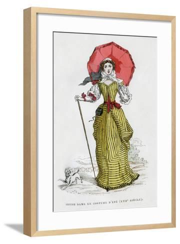 Young Woman in Summer Fashion, 17th Century (1882-188)--Framed Art Print