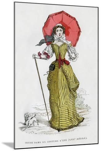 Young Woman in Summer Fashion, 17th Century (1882-188)--Mounted Giclee Print