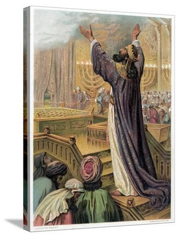 Solomon's Prayer at the Consecration of the Temple, C1870--Stretched Canvas Print
