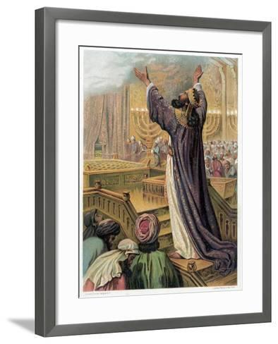 Solomon's Prayer at the Consecration of the Temple, C1870--Framed Art Print