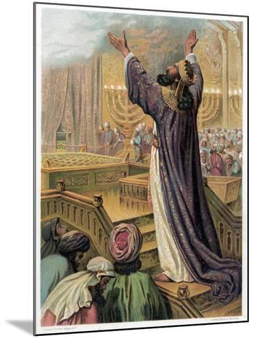 Solomon's Prayer at the Consecration of the Temple, C1870--Mounted Giclee Print