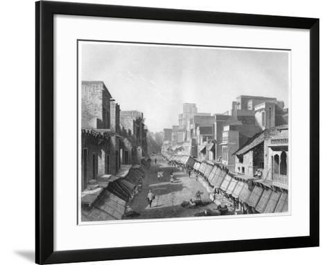 View of Principal Street, Agra, C1860--Framed Art Print