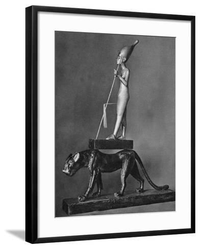 King Tutankhamen (C1341 Bc-C1323 B) on a Black Leopard, 1936--Framed Art Print