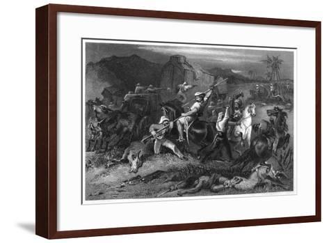 Night Sortie and Attack on Baggage Waggons, 1857--Framed Art Print