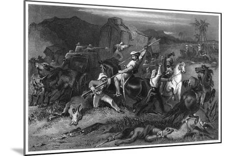 Night Sortie and Attack on Baggage Waggons, 1857--Mounted Giclee Print
