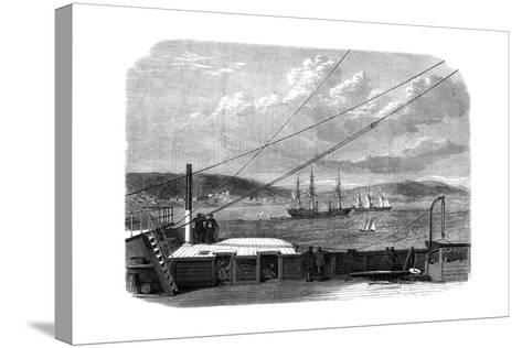 The Atlantic Telegraph Expedition, Content Bay, Newfoundland, 1866--Stretched Canvas Print