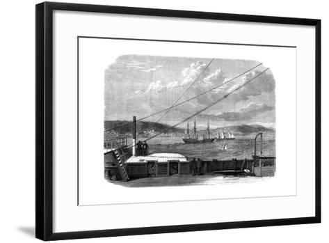 The Atlantic Telegraph Expedition, Content Bay, Newfoundland, 1866--Framed Art Print