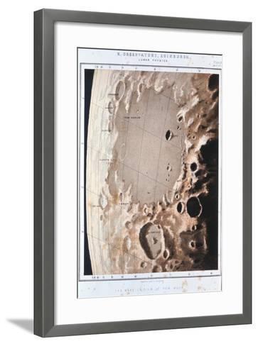 Part of the Lunar Surface, 1857--Framed Art Print