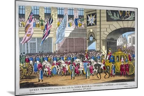 Royal Procession Passing Temple Bar, London, 1837--Mounted Giclee Print