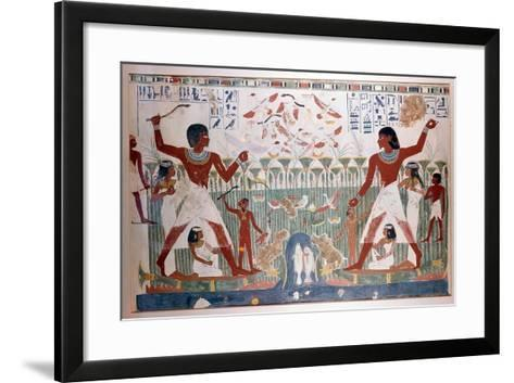 Ancient Egyptians Hunting Wildfowl with Throwing Sticks--Framed Art Print