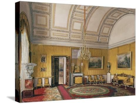 Interiors of the Winter Palace, the First Reserved Apartment, 1866-Eduard Hau-Stretched Canvas Print