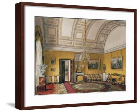 Interiors of the Winter Palace, the First Reserved Apartment, 1866-Eduard Hau-Framed Art Print