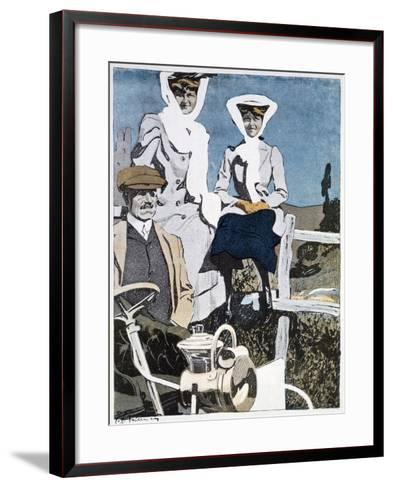 A Print from the German Magazine 'Simplicissimus, 10th June 1907--Framed Art Print