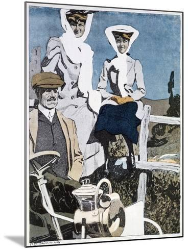 A Print from the German Magazine 'Simplicissimus, 10th June 1907--Mounted Giclee Print