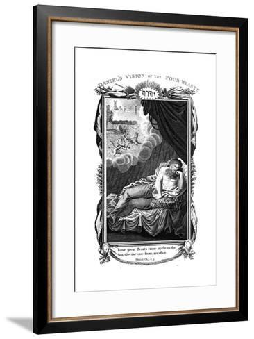 Daniel's Vision of the Beasts, 1804--Framed Art Print