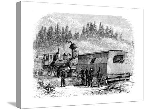 A Railroad Battery, American Civil War, 1861-1865--Stretched Canvas Print