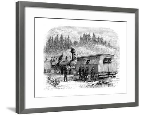 A Railroad Battery, American Civil War, 1861-1865--Framed Art Print