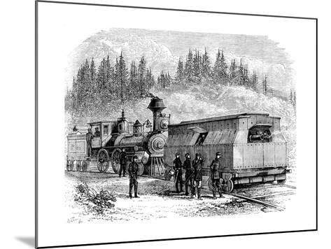 A Railroad Battery, American Civil War, 1861-1865--Mounted Giclee Print