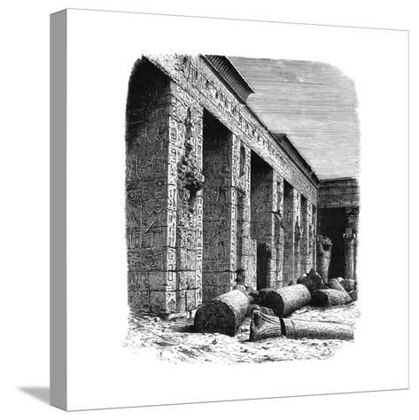 The Ruins of the Palace of Rameses III, Medinet Habu, Upper Egypt, C1890--Stretched Canvas Print