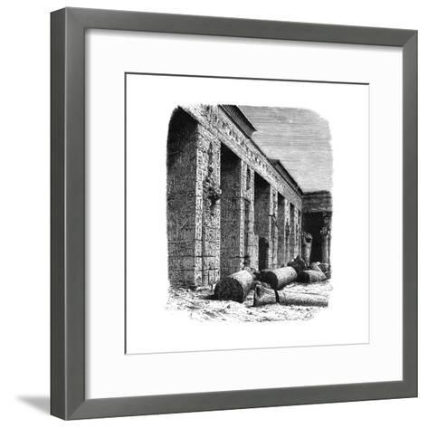 The Ruins of the Palace of Rameses III, Medinet Habu, Upper Egypt, C1890--Framed Art Print