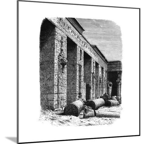 The Ruins of the Palace of Rameses III, Medinet Habu, Upper Egypt, C1890--Mounted Giclee Print