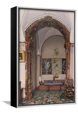 Interiors of the Winter Palace, the Alcove of the Study of Grand Prince Nicholas Nicolaievich-Konstantin Andreyevich Ukhtomsky-Framed Canvas Print