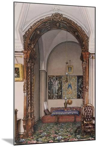 Interiors of the Winter Palace, the Alcove of the Study of Grand Prince Nicholas Nicolaievich-Konstantin Andreyevich Ukhtomsky-Mounted Giclee Print