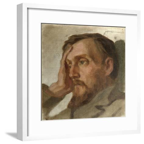 Portrait of the Literary Critic and Philosopher Vissarion G. Belinsky (1811-184), 1879-Ivan Alexandrovich Astafyev-Framed Art Print