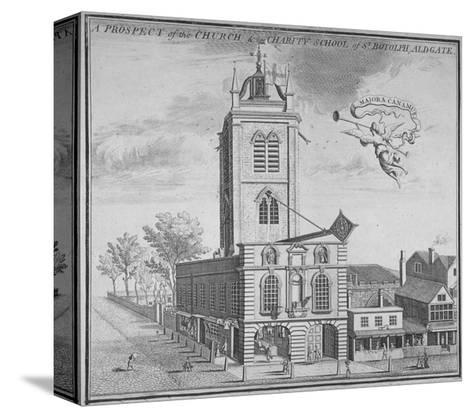 Church of St Botolph, Aldgate, City of London, 1750--Stretched Canvas Print