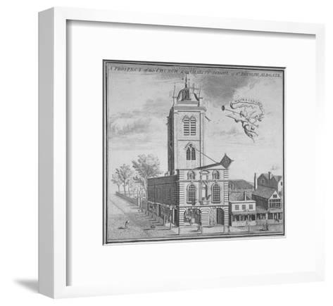 Church of St Botolph, Aldgate, City of London, 1750--Framed Art Print