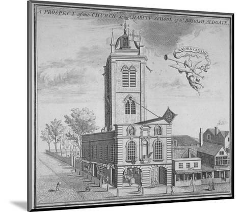 Church of St Botolph, Aldgate, City of London, 1750--Mounted Giclee Print