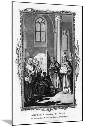 Athelstan Ordering the Bible to Be Translated into the Saxon Language--Mounted Giclee Print