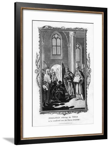 Athelstan Ordering the Bible to Be Translated into the Saxon Language--Framed Art Print