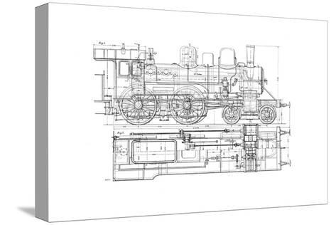 Example of Mechanical Drawing, 1901--Stretched Canvas Print