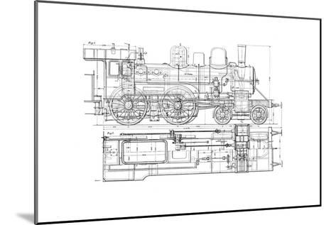 Example of Mechanical Drawing, 1901--Mounted Giclee Print