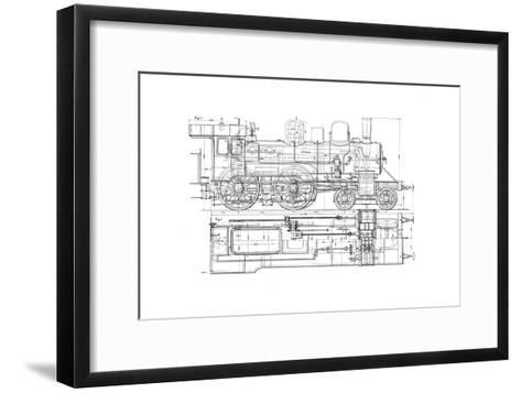 Example of Mechanical Drawing, 1901--Framed Art Print