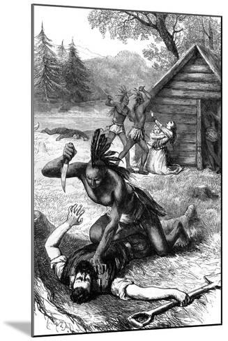 Massacre of Settlers by Native Americans, C17th Century--Mounted Giclee Print