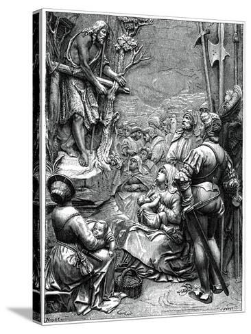 St John the Baptist Preaching in the Desert, 16th Century-Albrecht Durer-Stretched Canvas Print