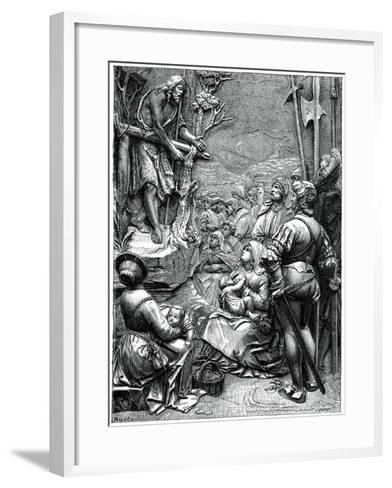 St John the Baptist Preaching in the Desert, 16th Century-Albrecht Durer-Framed Art Print