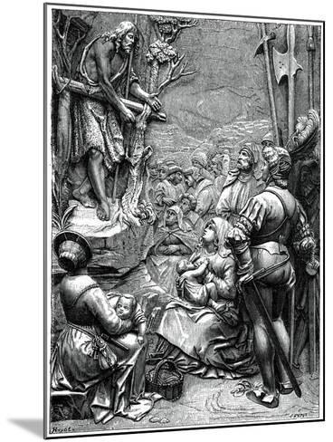 St John the Baptist Preaching in the Desert, 16th Century-Albrecht Durer-Mounted Giclee Print