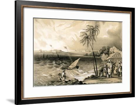 Setting in of the Monsoon, Cannanore Fort, 1847-TJ Rawlins-Framed Art Print