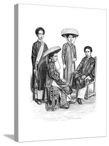 Annamese Chiefs and Women, Vietnam, 1895--Stretched Canvas Print