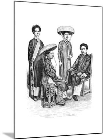Annamese Chiefs and Women, Vietnam, 1895--Mounted Giclee Print